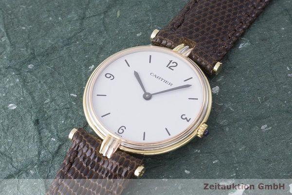 gebrauchte Luxusuhr Cartier Vendome 18k Gold Quarz Kal. 81    1900072 _0