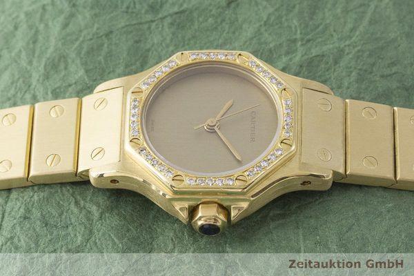 gebrauchte Luxusuhr Cartier Santos Ronde 18k Gold Automatik Kal. ETA 2671  | 1900073 _0