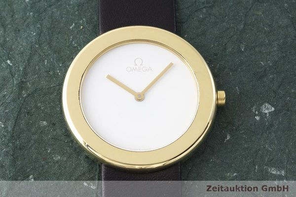 gebrauchte Luxusuhr Omega * 18k Gold Quarz Kal. 255.431 Ref. 195.0430/595.0430 LIMITED EDITION | 1900621 _1