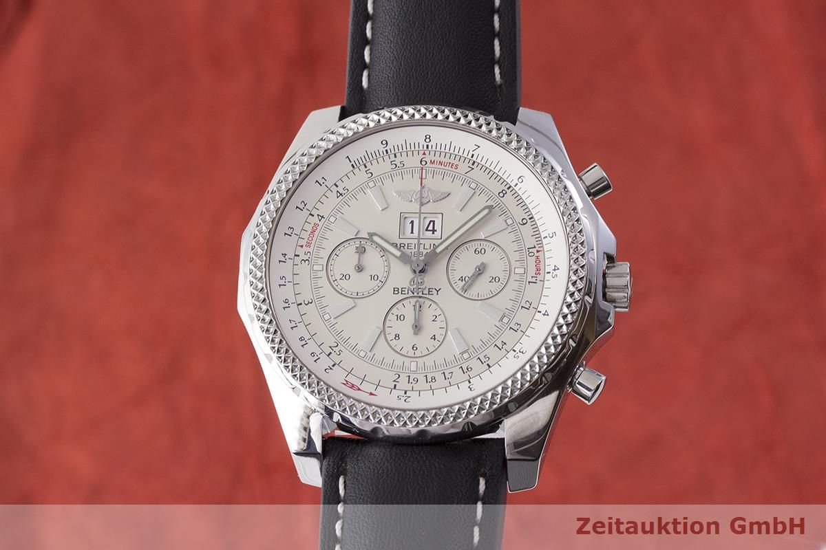 Breitling Bentley 6 75 Chronograph Steel Automatic Kal Eta 2892 A2 Ref A44362 1900653 Zeitauktion