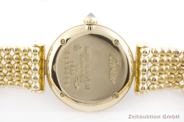gebrauchte Luxusuhr Cartier Vendome 18k Gold Quarz Kal. 057 Ref. 1980  | 1901229 _0