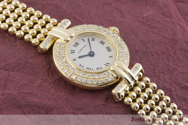 gebrauchte Luxusuhr Cartier Vendome 18k Gold Quarz Kal. 057 Ref. 1980  | 1901229 _1