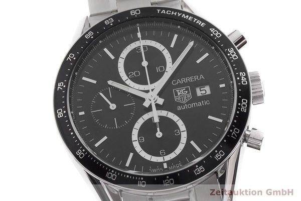 gebrauchte Luxusuhr Tag Heuer Carrera Chronograph Stahl Automatik Kal. Cal. 16 Ref. CV2010-4  | 1901392 _0