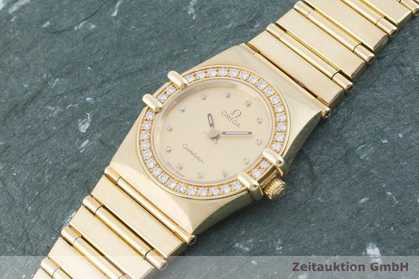 gebrauchte Luxusuhr Omega Constellation 18k Gold Quarz Kal. ETA 976.001 Ref. 11751500  | 1901421 _0