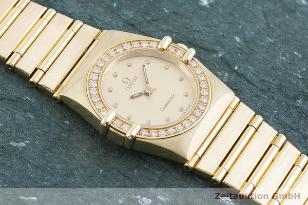 gebrauchte Luxusuhr Omega Constellation 18k Gold Quarz Kal. ETA 976.001 Ref. 11751500  | 1901421 _1