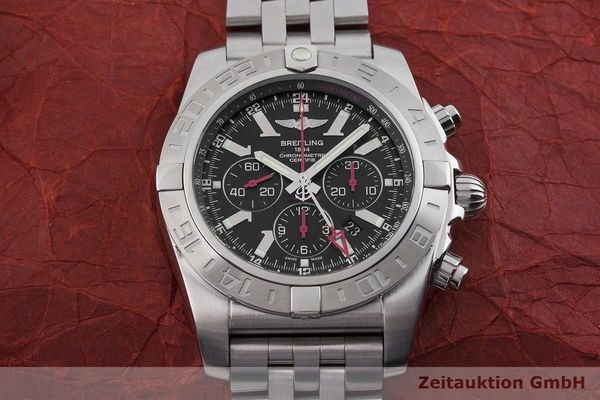 gebrauchte Luxusuhr Breitling Chronomat 47 GMT Chronograph Stahl Automatik Kal. B04 Ref. AB0412 LIMITED EDITION | 1901446 _1