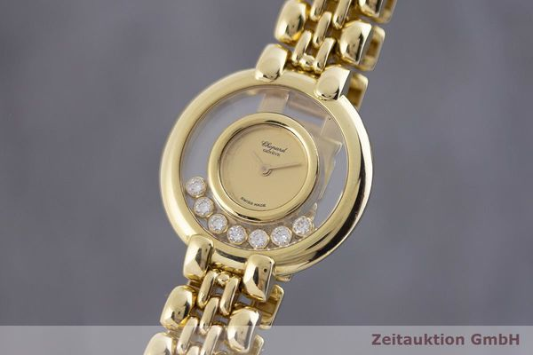 gebrauchte Luxusuhr Chopard Happy Diamonds 18k Gold Quarz Kal. Eta 201.001 Ref. 4101  | 1901800 _0
