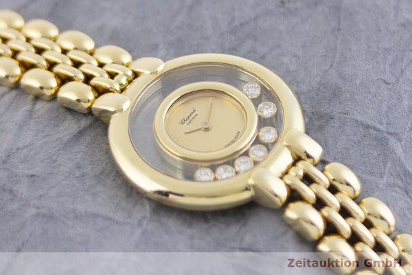 gebrauchte Luxusuhr Chopard Happy Diamonds 18k Gold Quarz Kal. Eta 201.001 Ref. 4101  | 1901800 _1