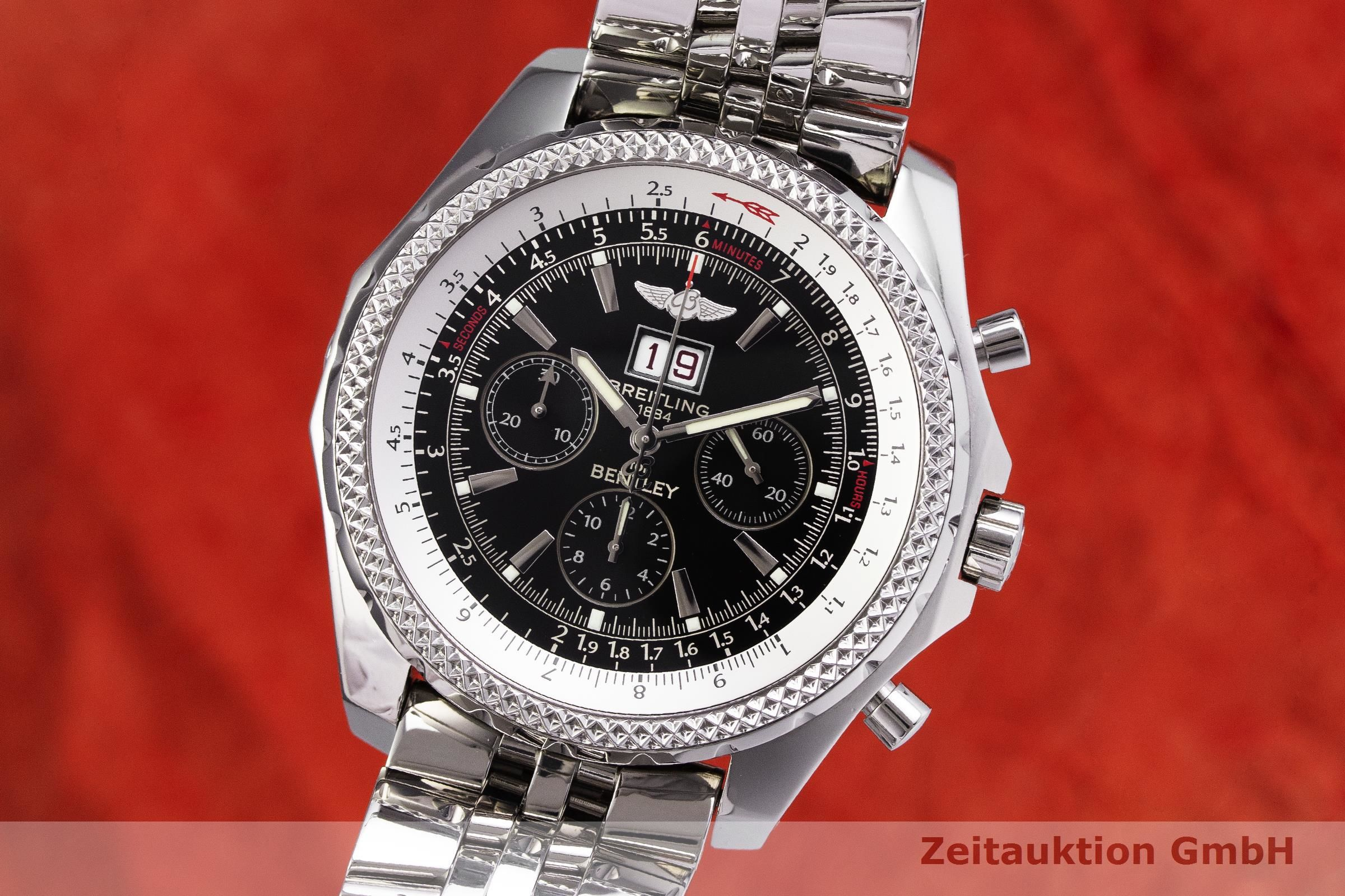 Breitling Bentley 6 75 Chronograph Steel Automatic Kal B44 Eta 2892 A2 Ref A44362 2000031 Zeitauktion