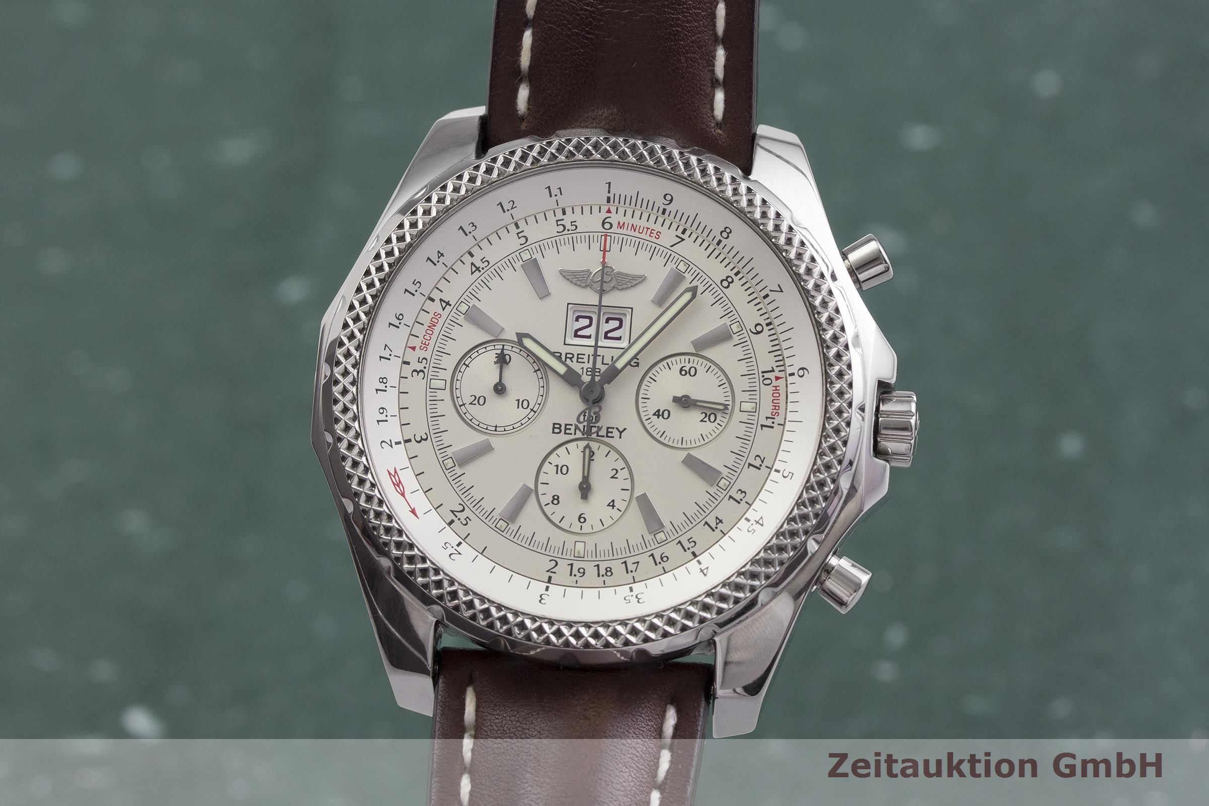 Breitling Bentley 6 75 Chronograph Steel Automatic Kal B44 Eta 2892 A2 Ref A44362 2000083 Zeitauktion