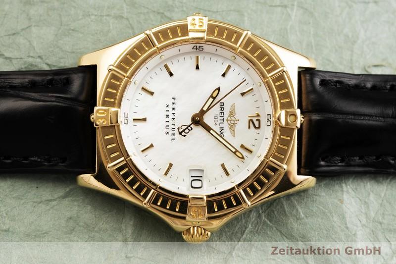 gebrauchte Luxusuhr Breitling Sirius 18k Gold Quarz Kal. B62 ETA 252.411 Ref. K62021  | 2000106 _0