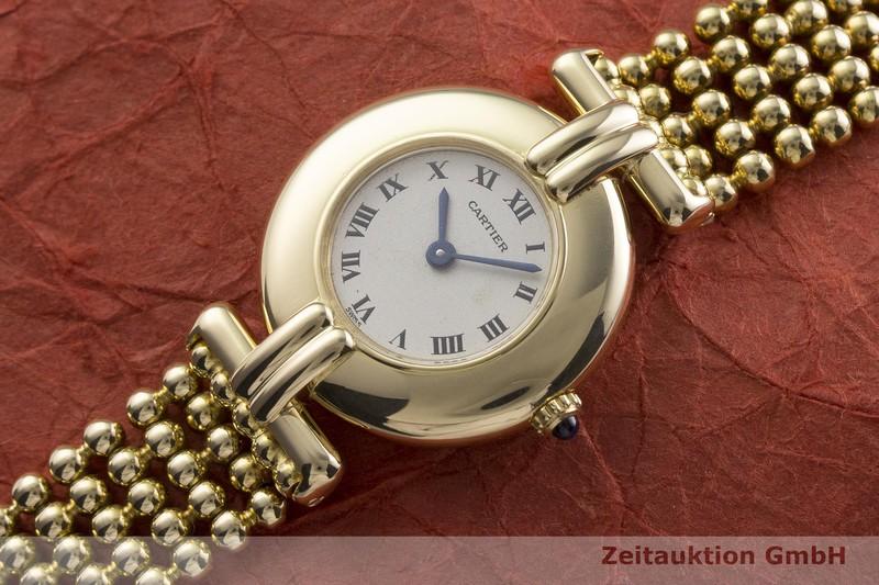 gebrauchte Luxusuhr Cartier Rivoli 18k Gold Quarz Kal. 81  | 2000112 _0