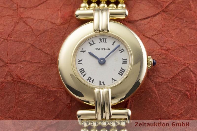 gebrauchte Luxusuhr Cartier Rivoli 18k Gold Quarz Kal. 81  | 2000112 _1