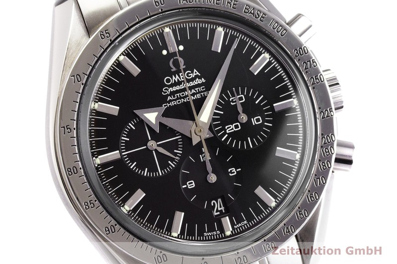 gebrauchte Luxusuhr Omega Speedmaster Chronograph Stahl Automatik Kal. 3303 Ref. 178.0022    2000145 _0