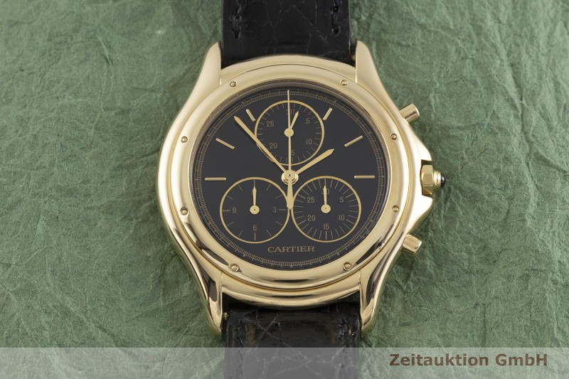 gebrauchte Luxusuhr Cartier Cougar Chronograph 18k Gold Quarz Kal. 202P Ref. 11621  | 2000226 _1
