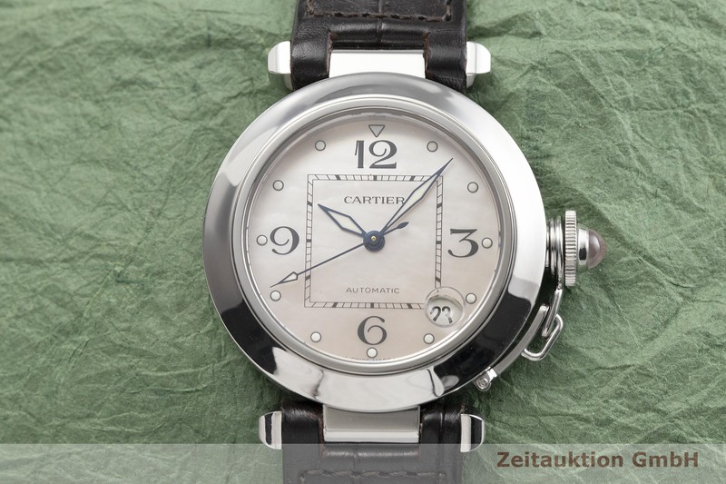gebrauchte Luxusuhr Cartier Pasha Stahl Automatik Kal. 049, ETA 2892-A2 Ref. 2324 LIMITED EDITION | 2000272 _1