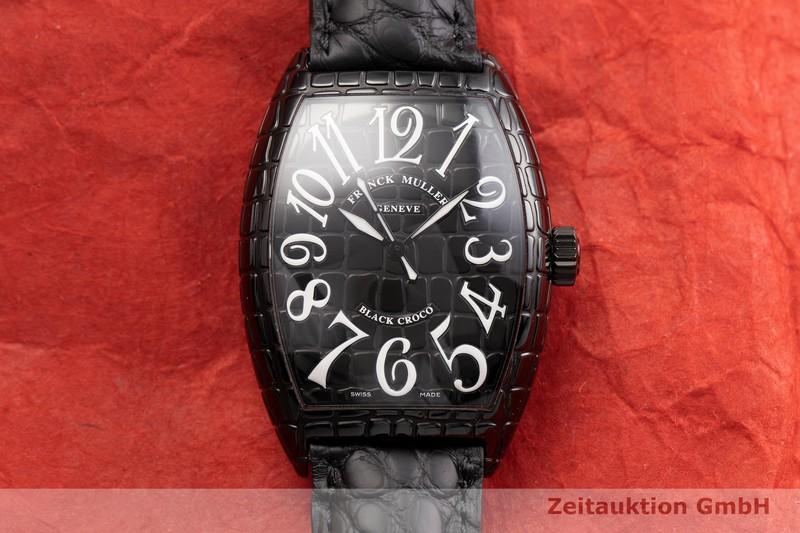 gebrauchte Luxusuhr Franck Muller Black Croco Stahl Automatik Kal. ETA 2892-A2 Ref. 7880SCBLKCRO  | 2000283 _1