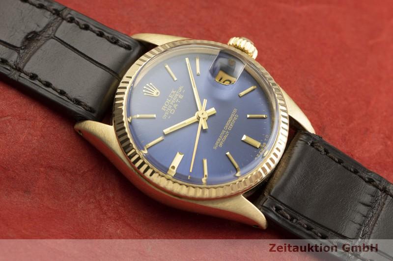gebrauchte Luxusuhr Rolex Date 18k Gold Automatik Kal. 2030 Ref. 6827 VINTAGE  | 2000341 _1