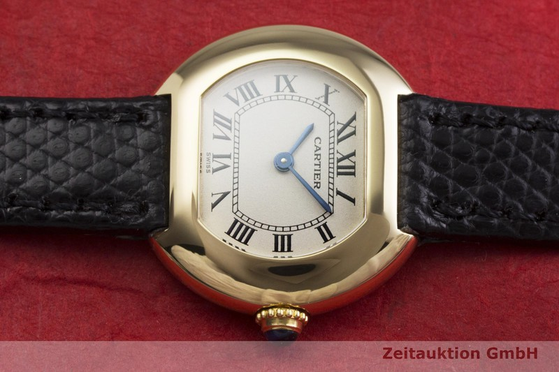gebrauchte Luxusuhr Cartier Ellipse 18k Gold Quarz Kal. 66  | 2000370 _0