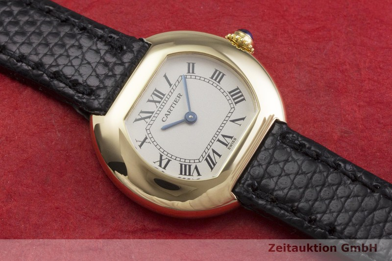 gebrauchte Luxusuhr Cartier Ellipse 18k Gold Quarz Kal. 66  | 2000370 _1