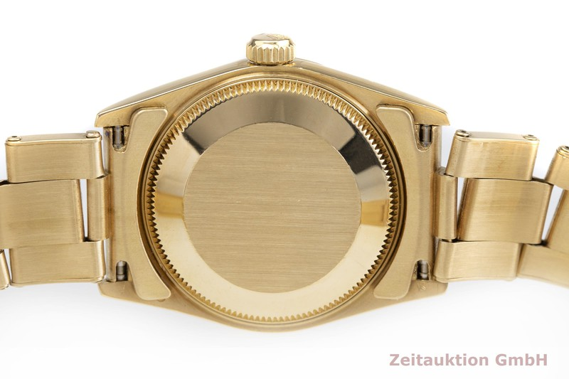 gebrauchte Luxusuhr Rolex Oyster Perpetual 18k Gold Automatik Kal. 2130 Ref. 67518  | 2000401 _0