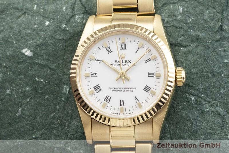 gebrauchte Luxusuhr Rolex Oyster Perpetual 18k Gold Automatik Kal. 2130 Ref. 67518  | 2000401 _1