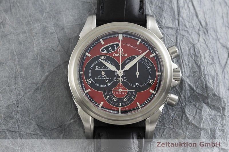 gebrauchte Luxusuhr Omega De Ville Chronograph Stahl Automatik Kal. 3313B Ref. 4851.61.31, 178.1744    2000524 _1