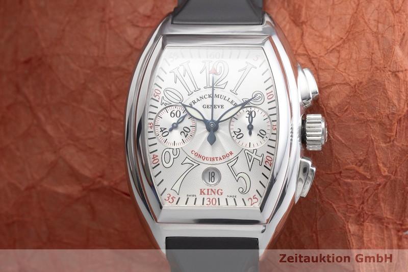 gebrauchte Luxusuhr Franck Muller Conquistador Chronograph Stahl Automatik Kal. 7002 Ref. 8005CCKING  | 2000562 _1