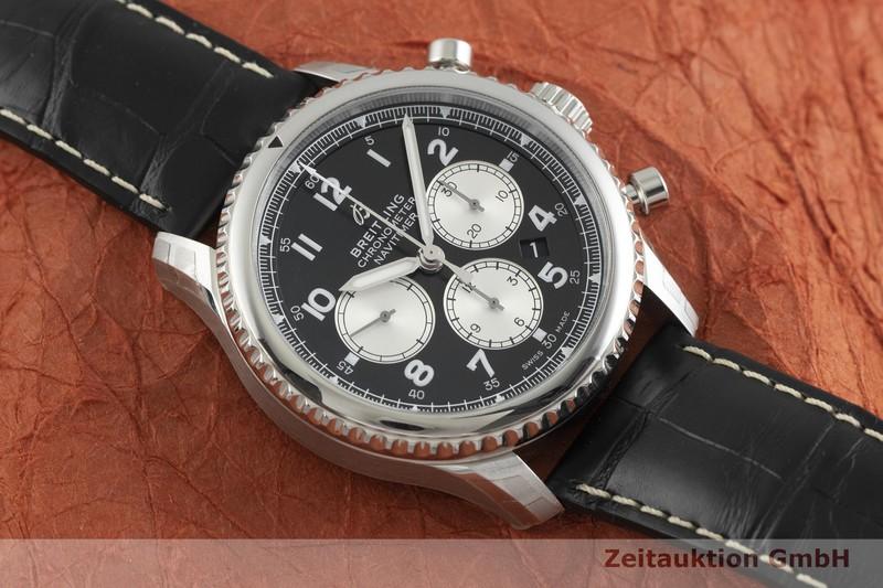 gebrauchte Luxusuhr Breitling Navitimer Chronograph Stahl Automatik Kal. B01 Ref. AB0117  | 2000609 _1