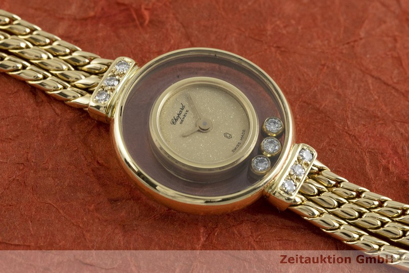 gebrauchte Luxusuhr Chopard Happy Diamonds 18k Gold Quarz Kal. ETA 101.001 Ref. G4578  | 2000618 _1