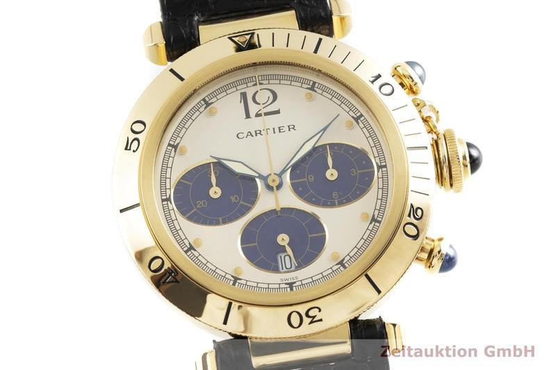 gebrauchte Luxusuhr Cartier Pasha Chronograph 18k Gold Quarz Ref. 30009  | 2000625 _0
