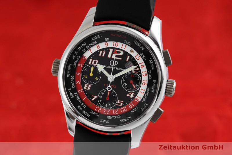 gebrauchte Luxusuhr Girard Perregaux Ferrari Chronograph Titan Automatik Kal. 3387 Ref. 49800  | 2000643 _0