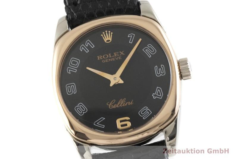 gebrauchte Luxusuhr Rolex Cellini 18k Weissgold Quarz Kal. 6620 Ref. 6229  | 2000680 _0
