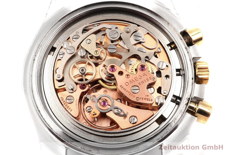 gebrauchte Luxusuhr Omega Speedmaster Moonwatch Chronograph Stahl / Gold Handaufzug Kal. 861 Ref. DD145.022 LIMITED EDITION | 2000785 _0