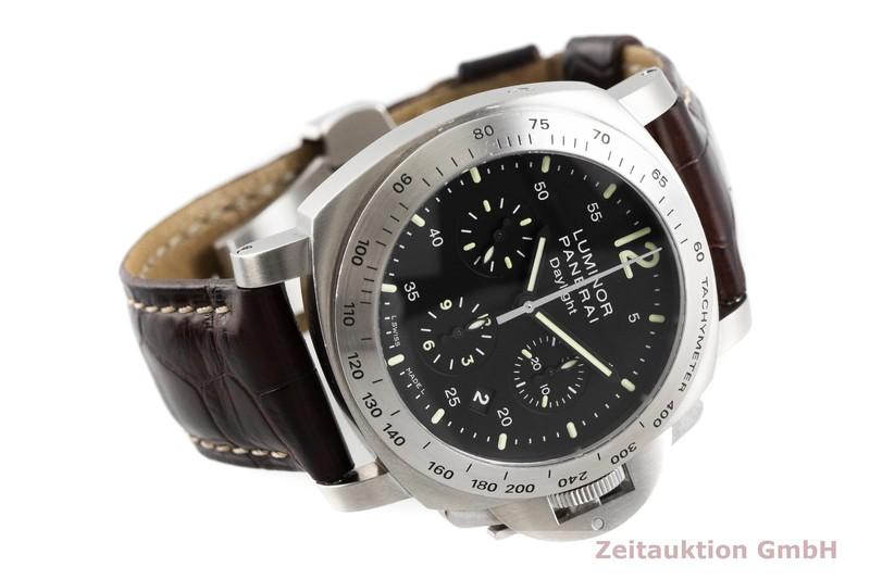gebrauchte Luxusuhr Panerai Luminor Chrono Daylight Chronograph Stahl Automatik Kal. OPXII, ETA 7753 Ref. PAM00250  | 2000788 _0
