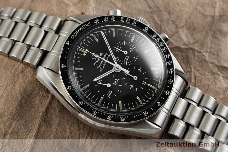 gebrauchte Luxusuhr Omega Speedmaster Moonwatch Chronograph Stahl Handaufzug Kal. 863 Ref. ST.345.0808  | 2000805 _1