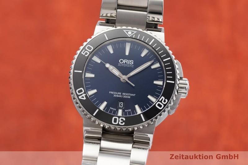 gebrauchte Luxusuhr Oris Aquis Date Stahl Automatik Kal. 733, Sellita SW 200-1 Ref. 0173376534135-0782601PEB  | 2000840 _0