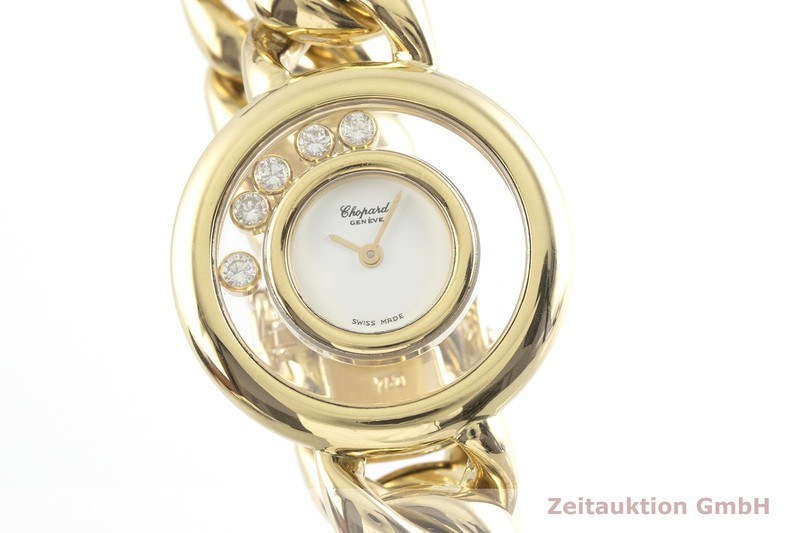 gebrauchte Luxusuhr Chopard Happy Diamonds 18k Gold Quarz Kal. ETA 201.001 Ref. 41011, 20/5816  | 2000846 _0