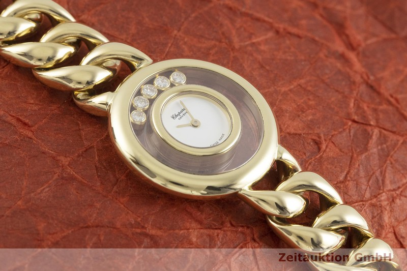 gebrauchte Luxusuhr Chopard Happy Diamonds 18k Gold Quarz Kal. ETA 201.001 Ref. 41011, 20/5816  | 2000846 _1