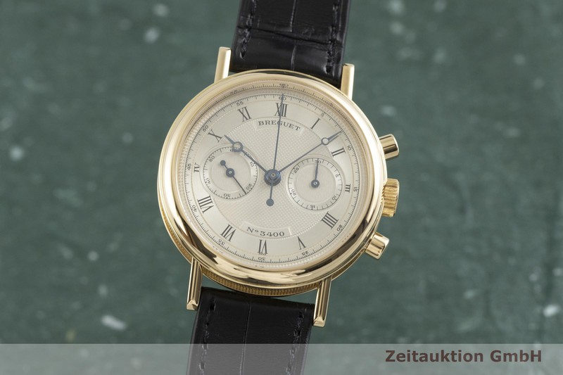 gebrauchte Luxusuhr Breguet Classique Chronograph 18k Gold Handaufzug Kal. 897 Ref. 3237    2000883 _0