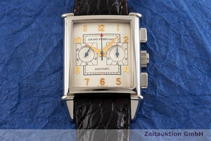 gebrauchte Luxusuhr Girard Perregaux Vintage Chronograph 18k Weissgold Automatik Kal. 3080 Ref. 2599    2000958 _1