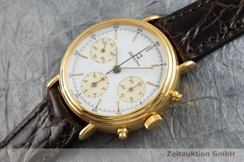 gebrauchte Luxusuhr Zenith * Chronograph Stahl vergoldet Handaufzug Kal. 146 HP  | 2000975 _0