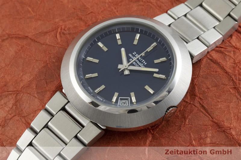 gebrauchte Luxusuhr Zenith Diver Blue Stahl Automatik Kal. 2562PC Ref. 01-1180-290, BT 6001 VINTAGE  | 2001039 _0