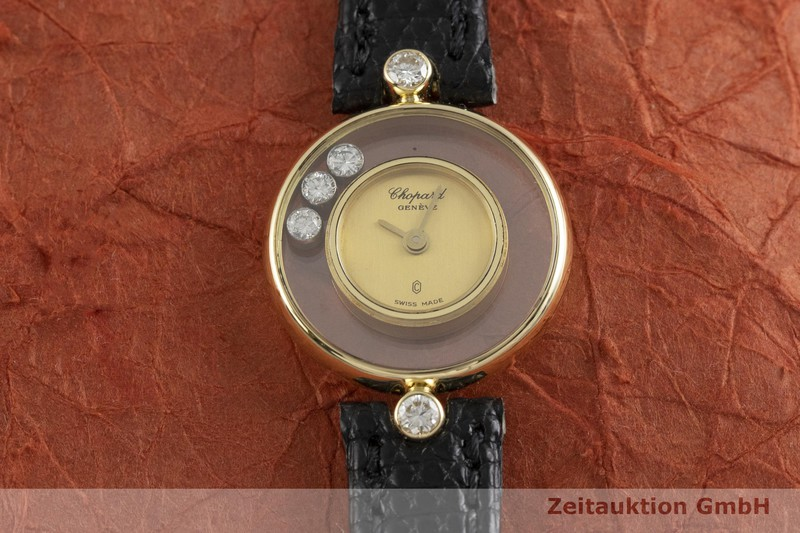 gebrauchte Luxusuhr Chopard Happy Diamonds 18k Gold Quarz Kal. FHF101.001 Ref. 33929  | 2001125 _1