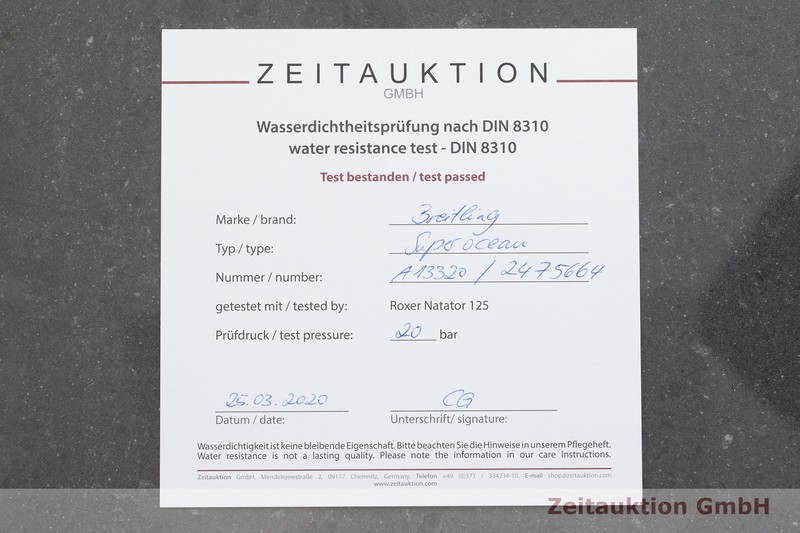 gebrauchte Luxusuhr Breitling Superocean Chronograph Chronograph Stahl Automatik Kal. B13, ETA 7750 Ref. A13320  | 2001271 _1