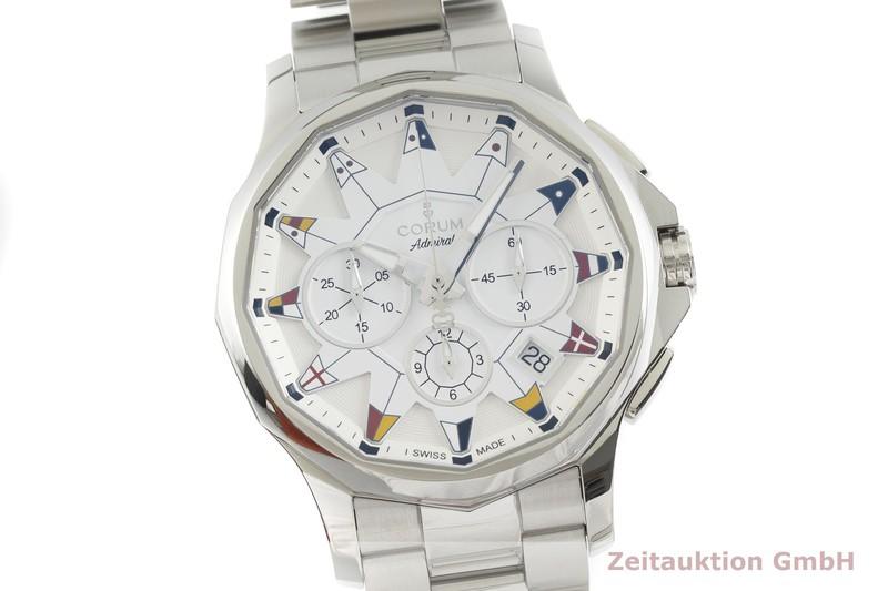 gebrauchte Luxusuhr Corum Admiral Chronograph Stahl Automatik Kal. ETA 2894-2 Ref. 01.0096, 98410120  | 2001272 _0