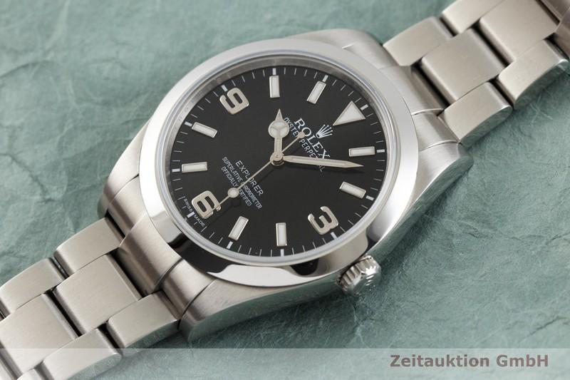 gebrauchte Luxusuhr Rolex Explorer Stahl Automatik Kal. 3132 Ref. 214270  | 2001287 _0