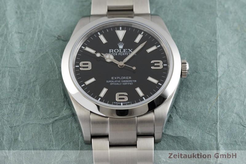 gebrauchte Luxusuhr Rolex Explorer Stahl Automatik Kal. 3132 Ref. 214270  | 2001287 _1