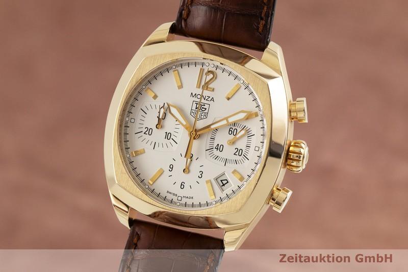 gebrauchte Luxusuhr Tag Heuer Monza Chronograph 18k Gold Automatik Kal. ETA 2824-2 Ref. CR514A    2001294 _0