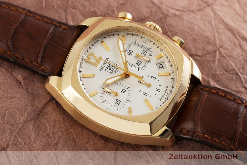 gebrauchte Luxusuhr Tag Heuer Monza Chronograph 18k Gold Automatik Kal. ETA 2824-2 Ref. CR514A    2001294 _1